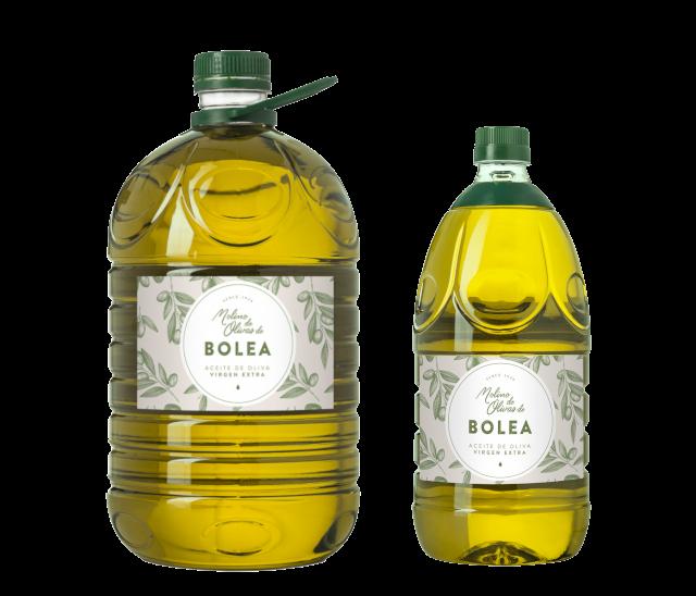 Garrafas de 2 y 5 litros. Aceite de oliva virgen extra